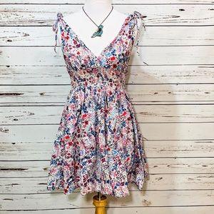 {DIVIDED} Floral Print Shoulder Tie Sundress